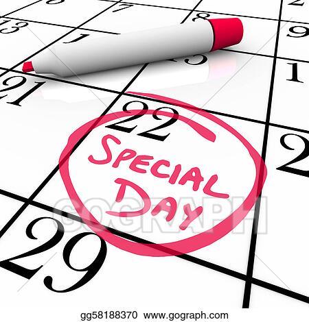 Stock illustration calendar special day circled for for Clipart calendario