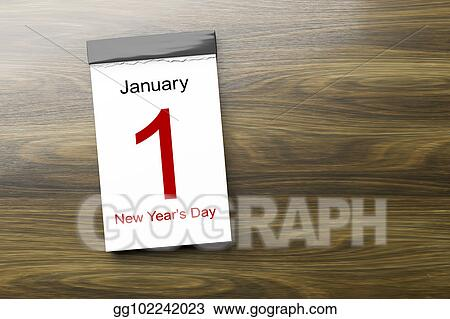calendar the 1st of january new years day
