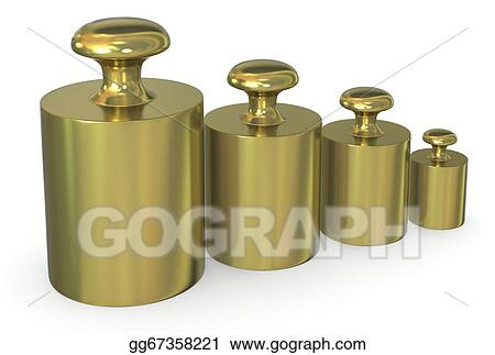 b2d46b55af0 Drawing - Close up of a set of calibration weights ( 3d render). Clipart  Drawing gg67358221