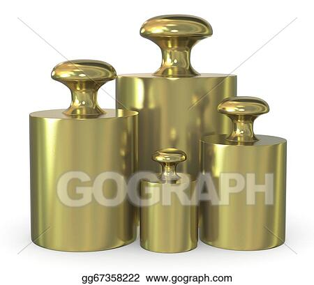 7758422f398 Drawing - Close up of a set of calibration weights ( 3d render). Clipart  Drawing gg67358222