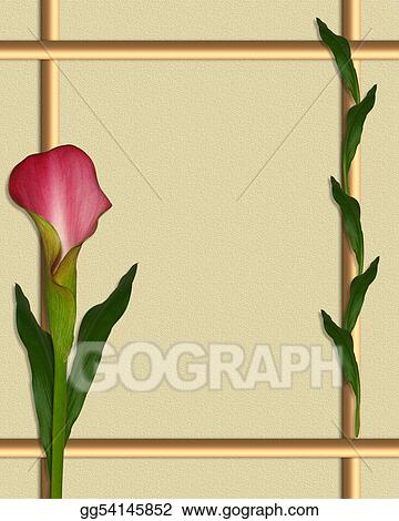 Clipart - Calla lily border frame. Stock Illustration gg54145852 ...