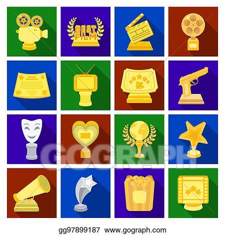 Stock Illustration - Camera, shout, globe, objects for