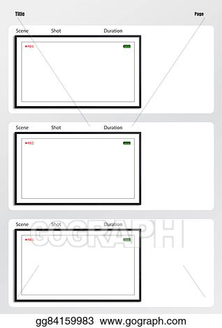 Clip Art - Camera Viewfinder Storyboard Template 3 Frame. Stock