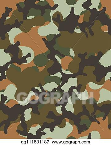 picture about Camo Printable Paper named Vector Inventory - Camouflage practice. seamless military services wallpaper