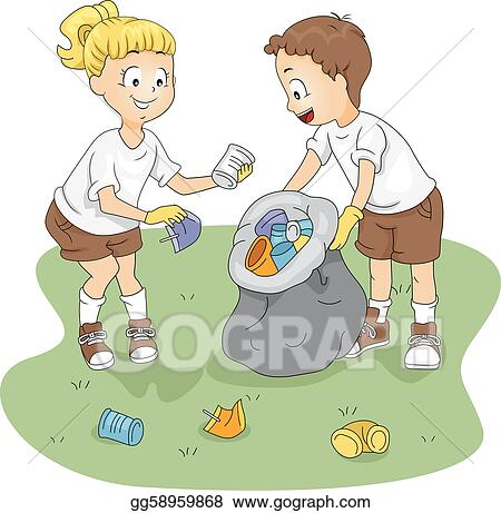 Vector Stock Camp Cleaning Clipart Illustration Gg58959868 Gograph