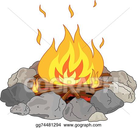 Campfire smoke. Vector illustration stock clip