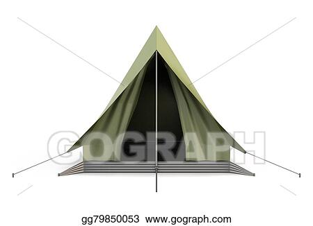 Camping Tent Front View
