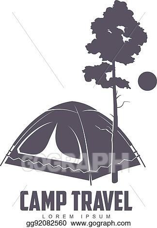 Camping template. Vector stock logo clipart