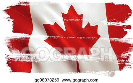 drawing canadian flag canada maple leaf clipart drawing
