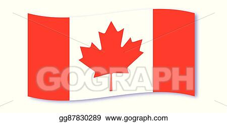 Vector Art Canadian Flag Wave Clipart Drawing Gg87830289 Gograph