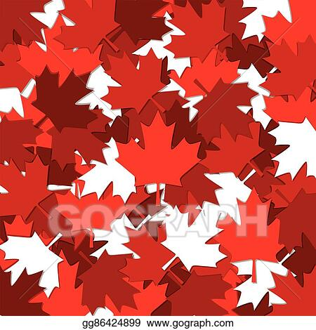 Eps Illustration Canadian Maple Leaf Scatter Pattern In Vector Format Vector Clipart Gg86424899 Gograph