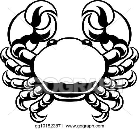 Vector Stock - Cancer zodiac horoscope astrology sign crab