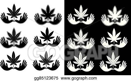Vector Illustration Cannabis Marijuana Leaf Dove Symbol Eps