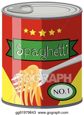 vector art canned food with spaghetti clipart drawing gg91979643 rh gograph com canned food clipart black and white Canned Food Clip Art