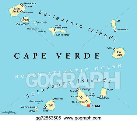 Vector Art - Cape verde political map. Clipart Drawing ...