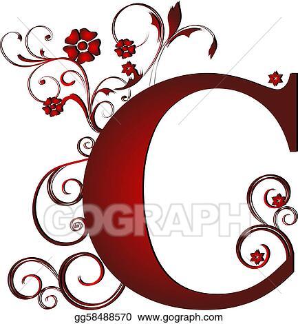Stock Illustrations Capital Letter C Red Stock Clipart Gg58488570