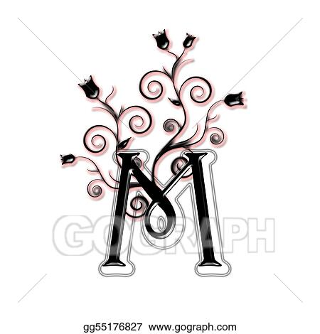 Drawing Capital Letter M Clipart Drawing Gg55176827 Gograph