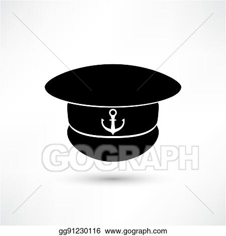 990d45c86de Vector Stock - Captain hat icon isolated on white background. Stock ...