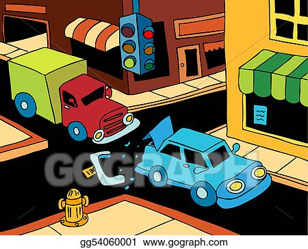 Vector Stock - Car accident  Stock Clip Art gg54060001 - GoGraph