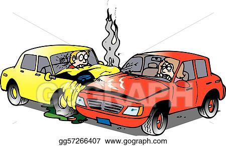 vector art car accident clipart drawing gg57266407 gograph rh gograph com Accident Clip Art car accident clipart pictures