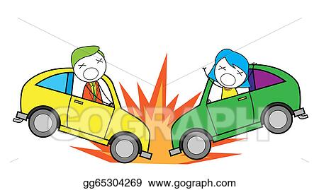 vector art car accident clipart drawing gg65304269 gograph rh gograph com car accident ambulance clipart vehicle accident clipart
