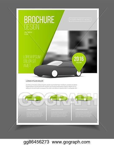 vector art car brochure auto leaflet brochure flyer template a4