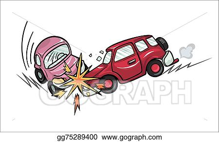 Vector Art - Car crash. Clipart Drawing gg75289400 - GoGraph