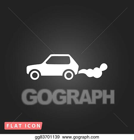 Vector Illustration - Car emits carbon dioxide. air pollution with co2. EPS  Clipart gg107460500 - GoGraph