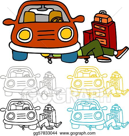 vector art car repair and maintenance clipart drawing gg57833044 rh gograph com