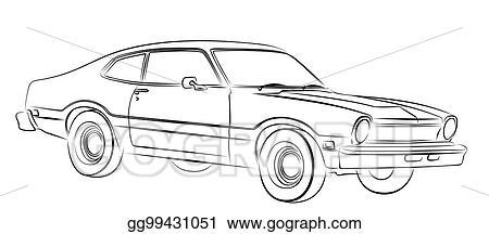 Vector Stock Car Sketch Clipart Illustration Gg99431051 Gograph