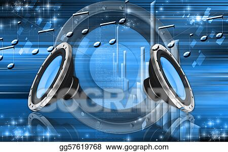 Stock Illustration Car Stereo Clipart Gg57619768 Gograph