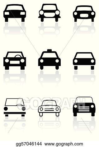 Vector Clipart Car Symbol Or Road Sign Vector Set Vector