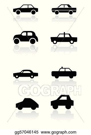 Vector Art Car Symbol Vector Set Clipart Drawing Gg57046145 Gograph