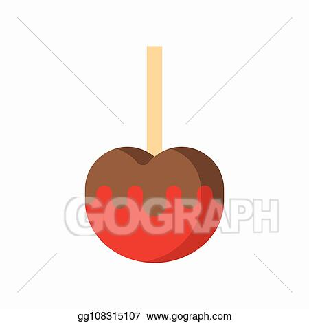 Vector Art Caramel Apple Sweets And Pastry Set Flat Design Icon Clipart Drawing Gg108315107 Gograph