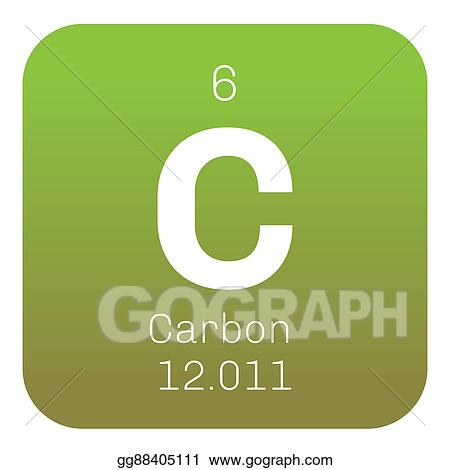 Stock Illustration Carbon Chemical Element Clipart Drawing