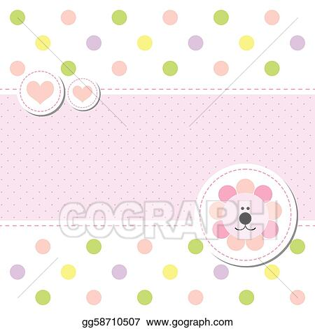 vector stock card design baby arrival announcement card clipart
