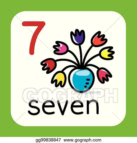 Vector Art Card For Learning To Count From 1 To 10 Education Eps