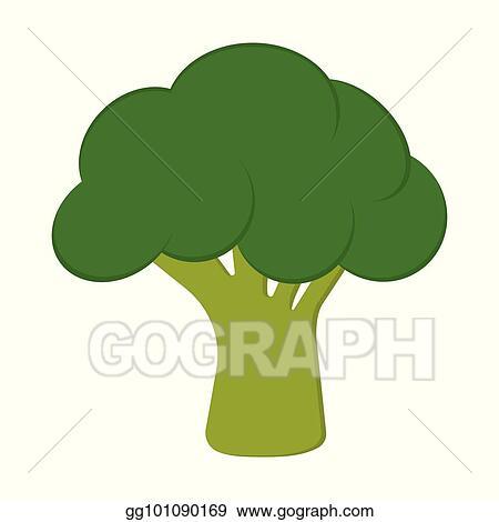 vector art card with broccoli eps clipart gg101090169 gograph gograph