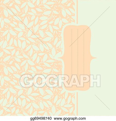 Eps Vector Card With Plant Otnament Pastel Color Stock Clipart Illustration Gg69498740 Gograph
