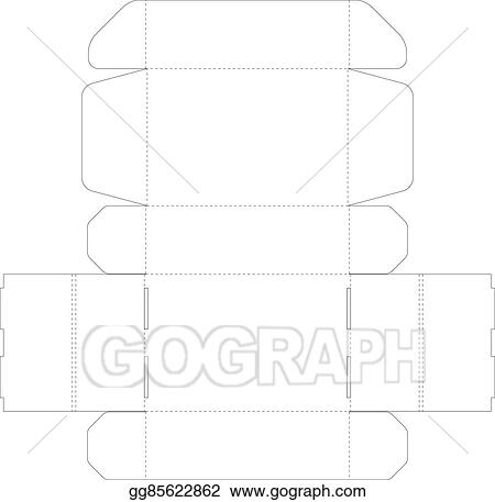Vector Art - Cardboard box template. Clipart Drawing gg85622862 ...