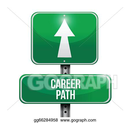 Vector Art Career Path Road Sign Illustration Clipart Drawing Gg66284958 Gograph