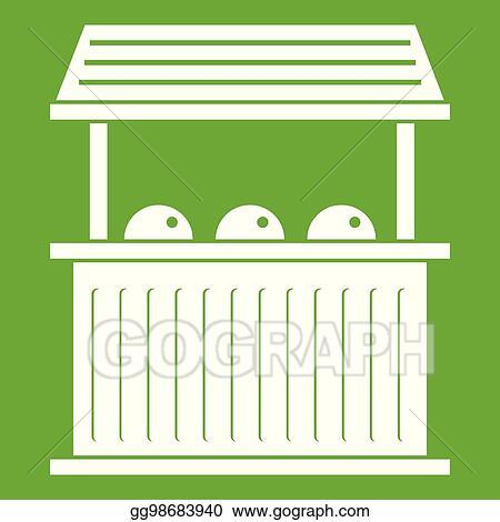 Eps Vector Carnival Fair Booth Icon Green Stock Clipart Illustration Gg98683940 Gograph