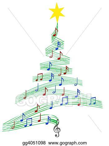 clipart carol music christmas tree stock illustration gg4051098 rh gograph com christian music clipart free christmas music clipart free