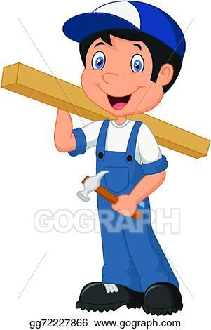 vector art carpenter cartoon clipart drawing gg72227866 gograph rh gograph com carpenter clip art images carpenter clip art images