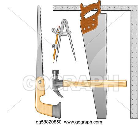 Clip Art Vector - Carpenter tools logo. Stock EPS ...