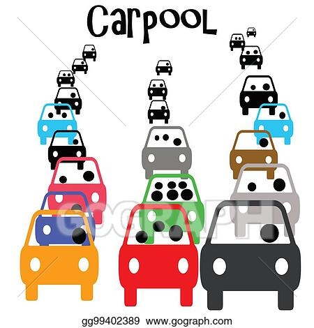 stock illustration carpool commute clipart gg99402389 gograph rh gograph com