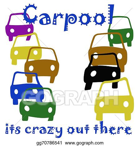 drawing carpool crazy clipart drawing gg70786541 gograph rh gograph com school carpool clipart