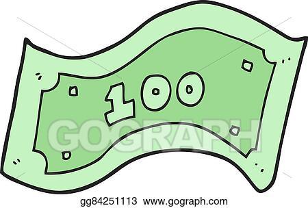 vector stock cartoon 100 dollar bill clipart illustration rh gograph com  100 dollar bill vector art