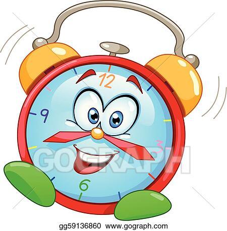 vector art cartoon alarm clock eps clipart gg59136860 gograph rh gograph com animated clip art alarm clock