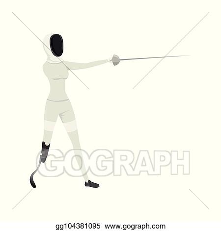 Vector Illustration - Cartoon athlete with physical
